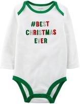 Carter's Slogan Bodysuit (Baby)-Best Christmas-18 Months