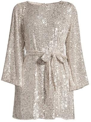 Jay Godfrey Maggie Sequin Mesh Dress