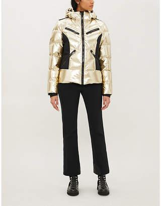 GOLDBERGH Fjal metallic faux-fur-trimmed shell-down ski jacket