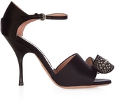 Rochas Bow-embellished satin high-heel sandals