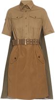 Kolor Drape-back belted cotton dress