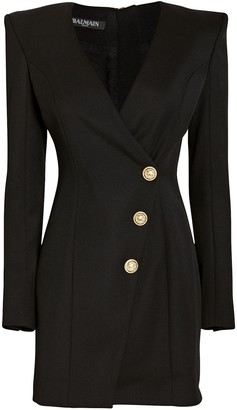 Balmain Wool Wrap Blazer Dress