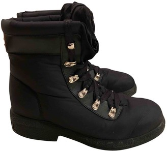 Chanel Black Rubber Ankle boots