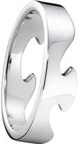 Georg Jensen Fusion end 18ct white-gold ring