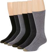 Gold Toe 6-pk. Harrington Casual Crew Socks - Big & Tall