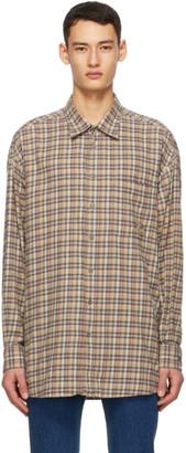 Gucci Multicolor Cotton Flannel Check Shirt