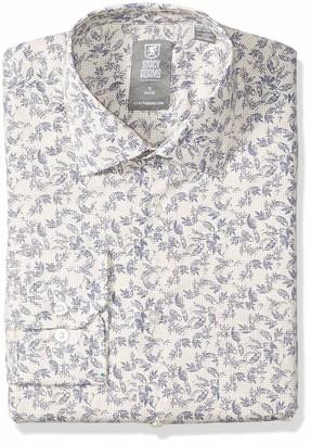Stacy Adams Men's Tall Vine Pixel Print Modern Fit Dress Shirt