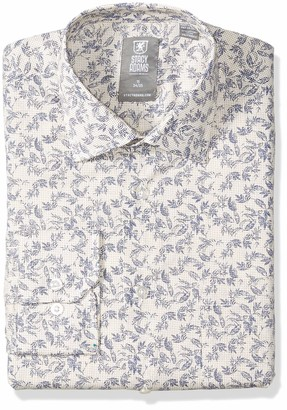 Stacy Adams Men's Vine Pixel Print Modern Fit Dress Shirt