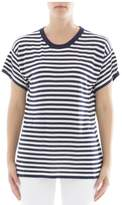 P.A.R.O.S.H. Blue And White Striped Silk T-shirt