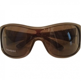Saint Laurent Khaki Plastic Sunglasses