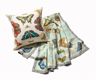 John Derian Mirrored Butterflies Sky Throw
