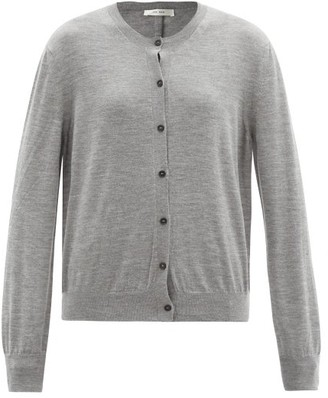 The Row Battersea Round-neck Cashmere Cardigan - Grey