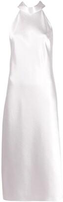 Galvan metallic cropped Sienna dress