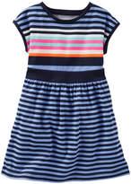Osh Kosh Girls 4-8 Drop-Shoulder Striped Dress