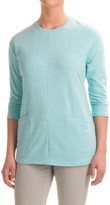 Specially made French Terry Tunic Shirt - 3/4 Sleeve (For Women)