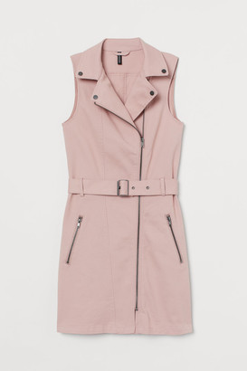 H&M Twill Biker Dress - Pink