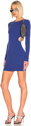 Alexander Wang Bodycon Long Sleeve Dress in Blue | FWRD