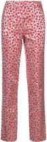 Oscar de la Renta metallic floral trousers