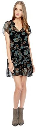 Ella Moss Monarch Silk Print Dress