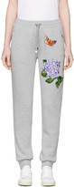 Dolce & Gabbana Grey Flower & Butterfly Lounge Pants