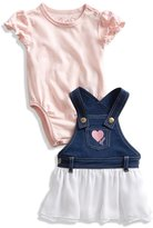 GUESS Bodysuit and Overall Dress Set (0-12M)