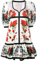 Alexander McQueen floral flared dress - women - Silk/Cotton - 38