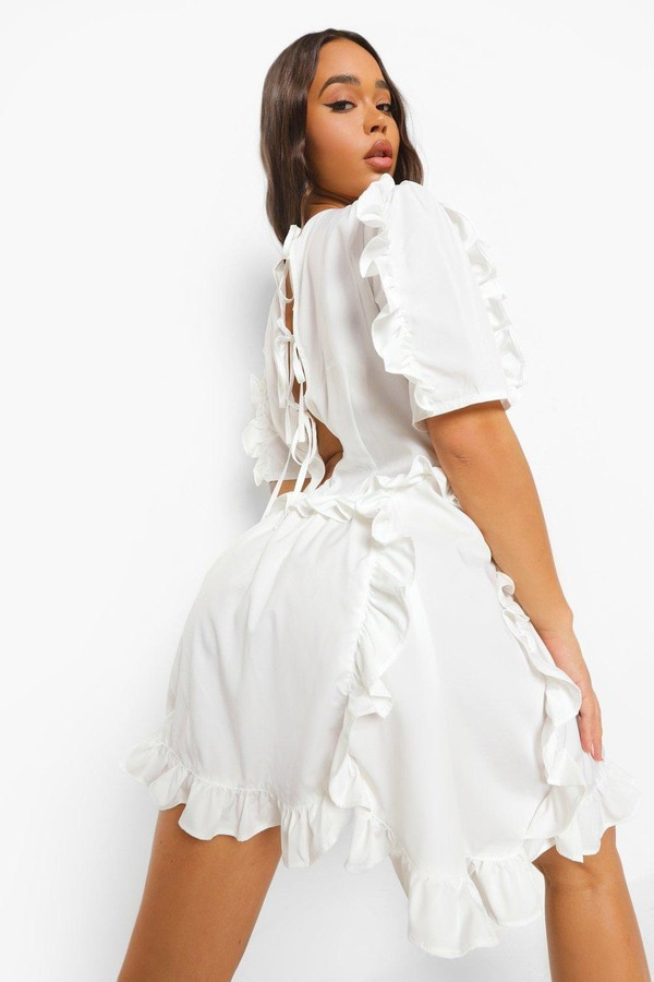 Thumbnail for your product : boohoo Extreme Ruffle Detail Smock Dress