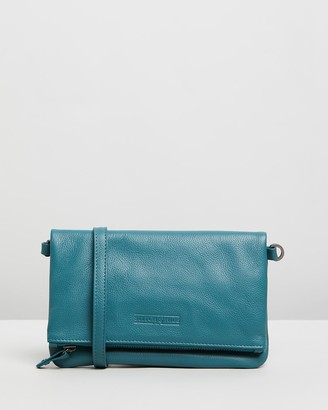 Stitch & Hide - Women's Blue Leather bags - Piper Clutch Bag - Size One Size at The Iconic