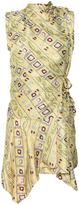 Isabel Marant Yellow Stole Twill Tabby Dress