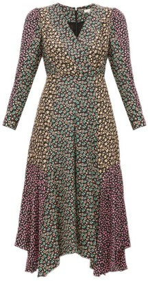 Rebecca Taylor Louise Floral-print Georgette Midi Dress - Womens - Black Multi