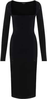 Ann Demeulemeester Long Sleeve Fitted Midi Dress