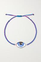 Thumbnail for your product : Lito Grand Bleu 14-karat Rose Gold, Macrame And Enamel Bracelet - Purple