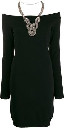 Moschino off-shoulders embellished dress