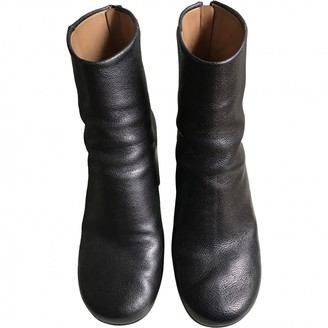 Maison Margiela Anthracite Leather Ankle boots