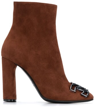 Casadei Suede 110mm Ankle Boots