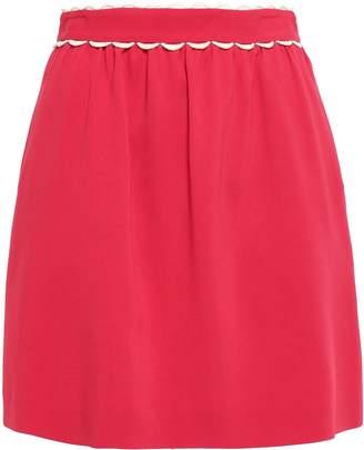 RED Valentino Scalloped Stretch-crepe Mini Skirt