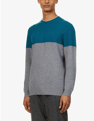 Ted Baker Colour block cotton-blend jumper
