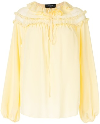 Rochas Ruffled Neck Blouse