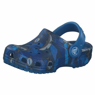 Crocs Baby Kid's Classic Shark Clog|Slip On Water Shoe for Toddlers Boys and Girls Prep Blue C4 M US