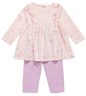 First Impressions Baby Girls 2-Pc. Cotton Unicorn-Print Tunic & Leggings Set, Created for Macy's