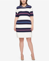 Tommy Hilfiger Plus Size Striped Sweater Dress