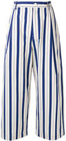 Sofie D'hoore vertical stripe wide leg cropped trousers
