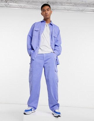 Vintage Supply carpenter trousers in lilac