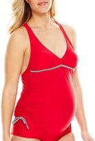 Spencer Shirred-Side Tankini Swim Top - Maternity