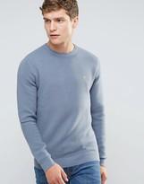 Farah Slim Textured Rib Knit Sweater in Green
