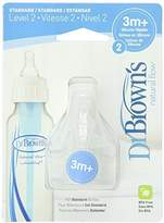 Dr Browns Natural Flow Standard Level 3m+ - 4 Nipples by Dr. Brown's