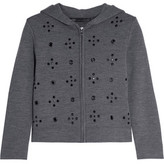 Marc by Marc Jacobs Anja Embellished Wool-Blend Jersey Hooded Top