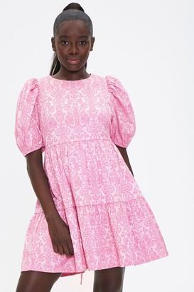 Forever 21 Baroque Print Mini Dress