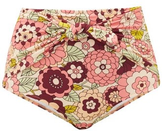 Dodo Bar Or Kayla Floral-print High-rise Bikini Briefs - Pink Print
