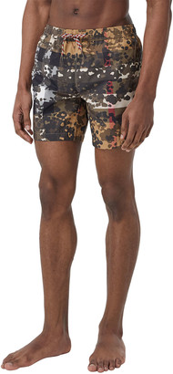 Burberry Men's Martin Camo Check Swim Shorts